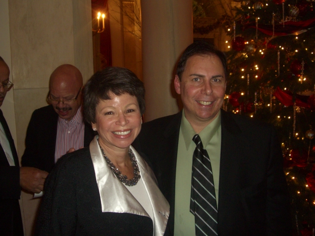Gary Bernstein and Valerie Jarrett at the White House