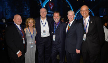 Pictured (left to right): Steve Schultz, Rep. Debbie Wasserman Schultz, Rep. Joe Crowley, SESAC's Dennis Lord & Pat Collins and Rep. Ted Deutch.