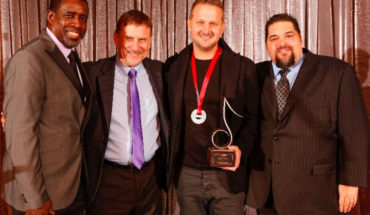 Pictured (left to right): SESAC's Trevor Gale & John Mullins, Ingram & SESAC's Tim Fink.
