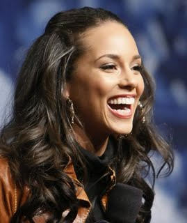 Alicia Key's curly hairstyles