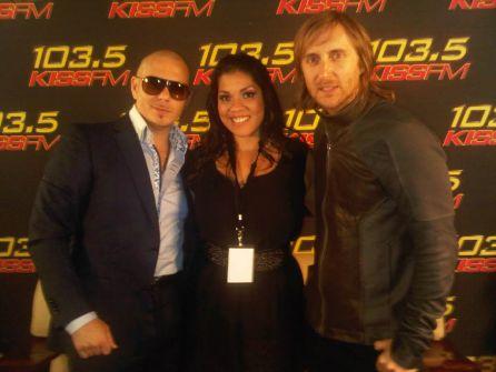 Nina Chantele Pitbull and David Guetta