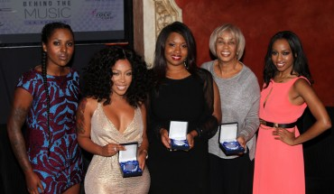 L-R) Mir Harris, K. Michelle, Myisha Brooks, Gail Mitchell and Moya Nkruma