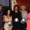 L-R) Mir Harris, K. Michelle, Myisha Brooks, Gail Mitchell and Moya Nkruma