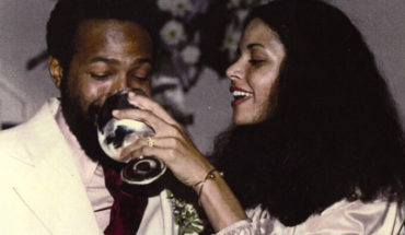 "Marvin Gaye and Jan Gaye for Sunday PostScript. Her book ""After the Dance."" Photos courtesy of Jan Gaye."