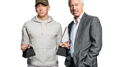RIAA Celebrates Eminem - the only artist in RIAA Gold & Platinum history to earn two Digital Diamond Awards. (PRNewsFoto/Interscope Records)